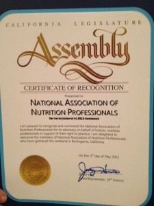 recognition from assemblyman jerry hill