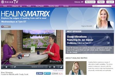 GAIAM TV home page trudy regina 2
