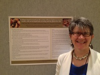 My gluten-mood poster at the 2013 ADAA conference