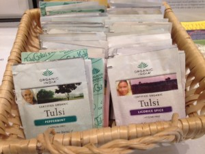 a selection herbal tulsi tea
