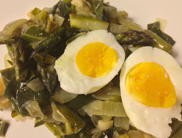 eggs and spinach