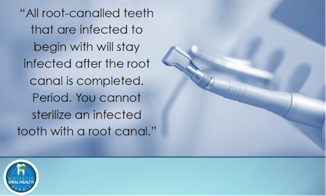 Infected root canal teeth, heart attacks, brain aneurysms