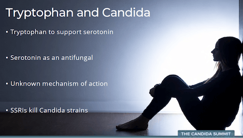 Candida: anxiety and low serotonin, testing and parasites