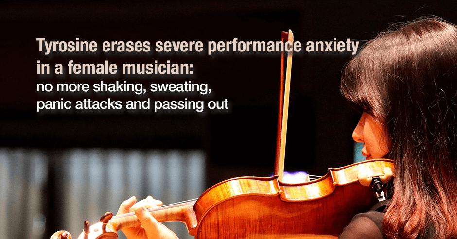 tyrosine and musician anxiety