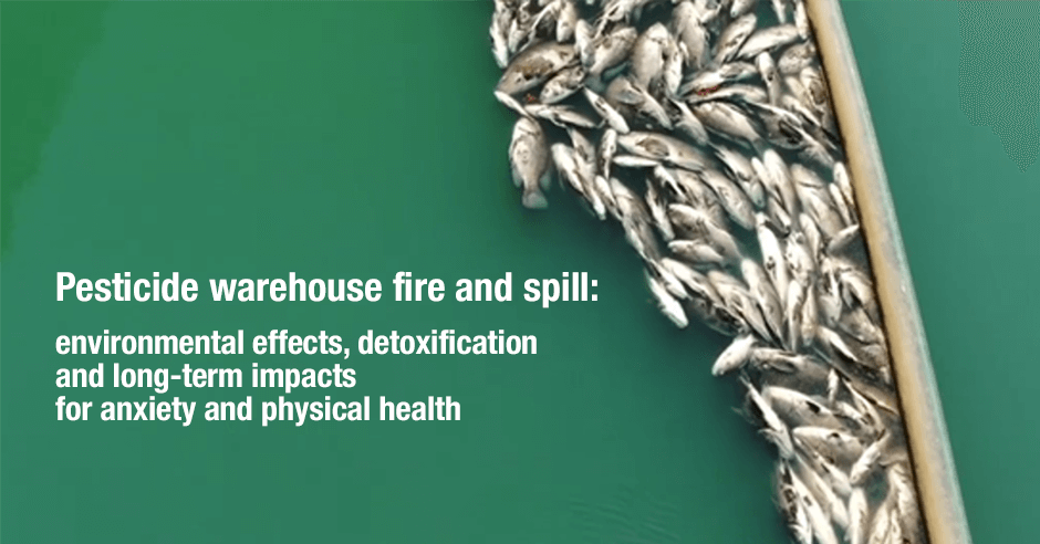 pasticide warehouse and fire spill